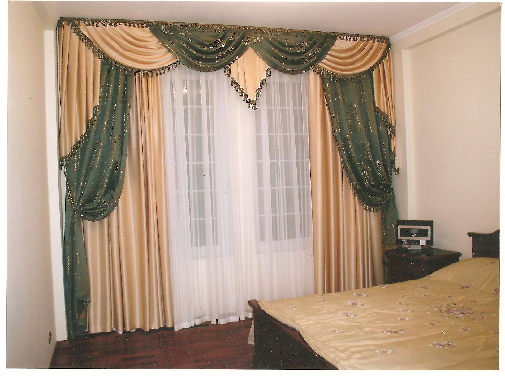 Красивые занавески в спальню фото